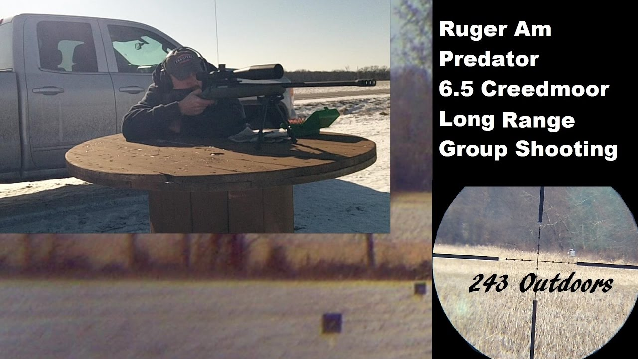 6.5 Creedmoor Long Range Group Shooting Ruger Am. Predator
