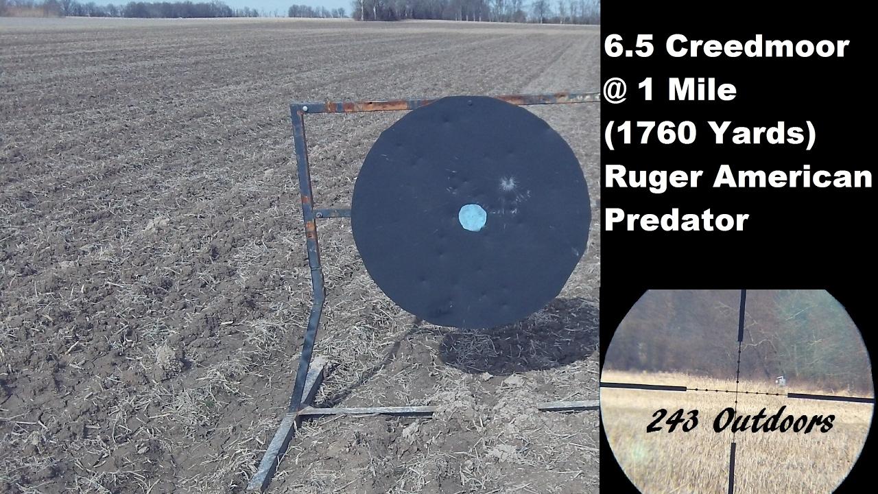 6.5 Creedmoor at 1 Mile (1760 Yards) Ruger American Predator