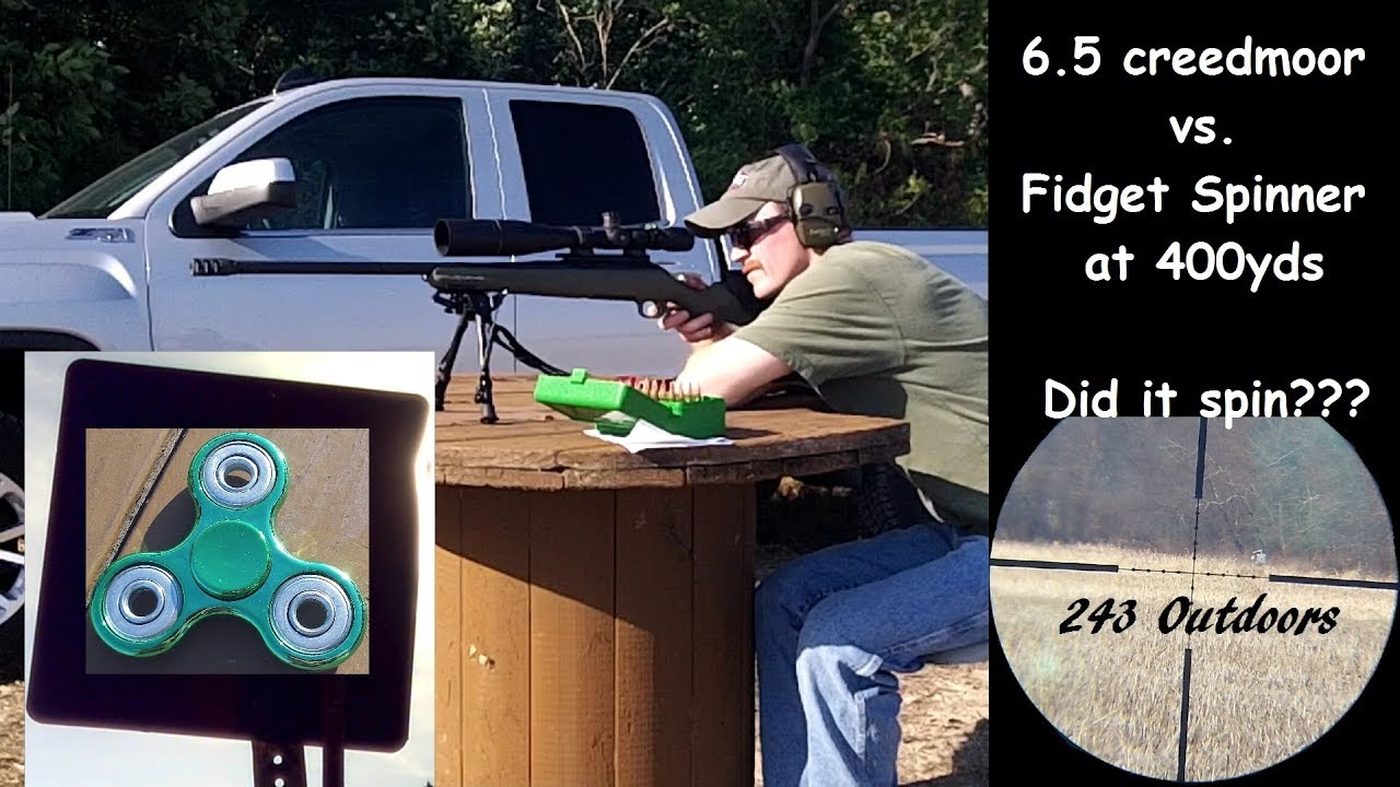 Shooting a Fidget Spinner at 400 yards with a 6.5 Creedmoor.  Did it Spin???