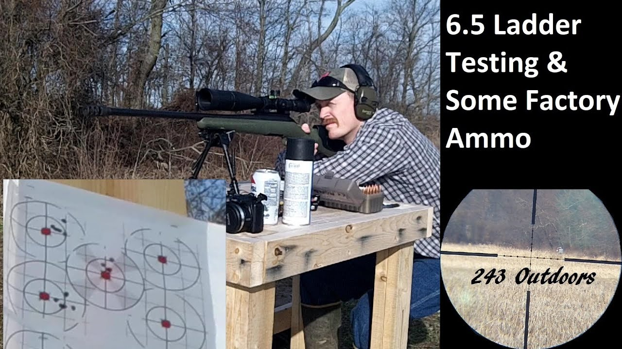 6.5 Creedmoor 140g ELD Ladder Testing and Some Factory Ammo