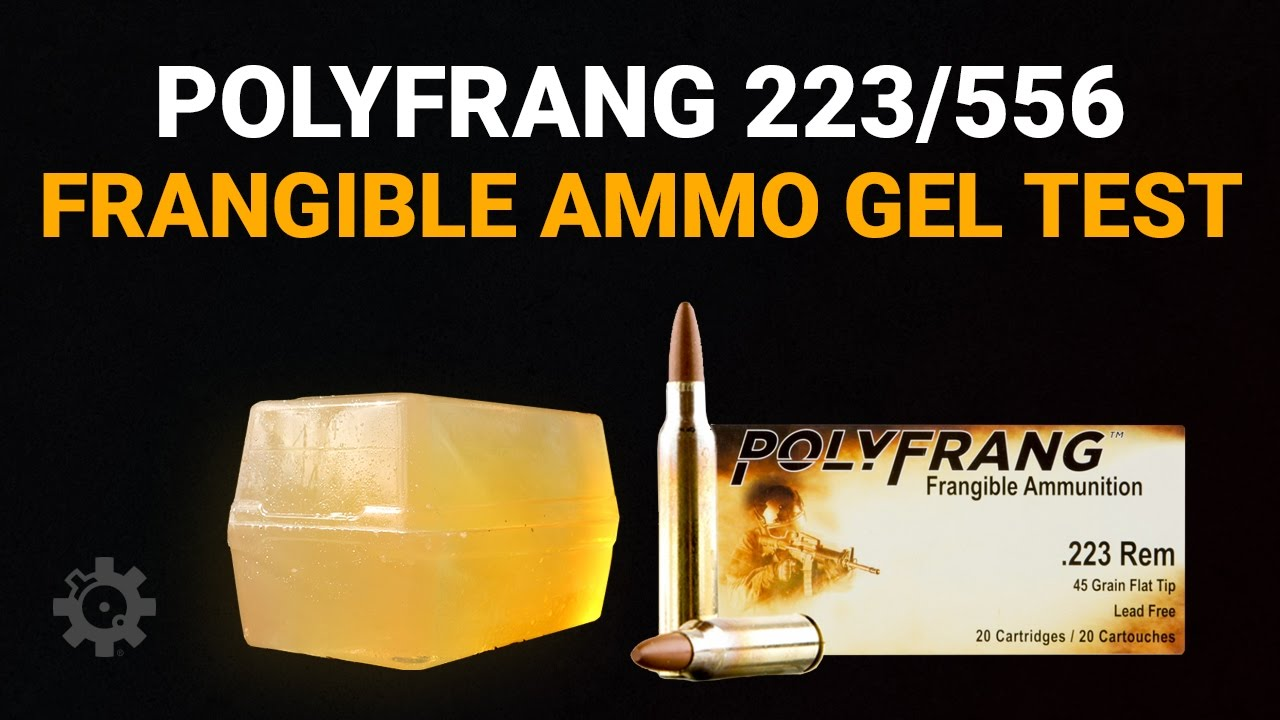 PolyFrang .223/5.56mm Frangible Ammunition - Gel Test