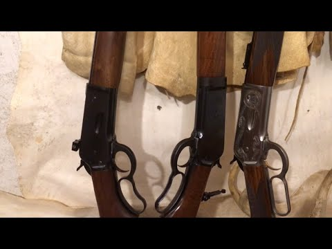 The 1886 Winchester lever action rifle and the 50 express cartridge,