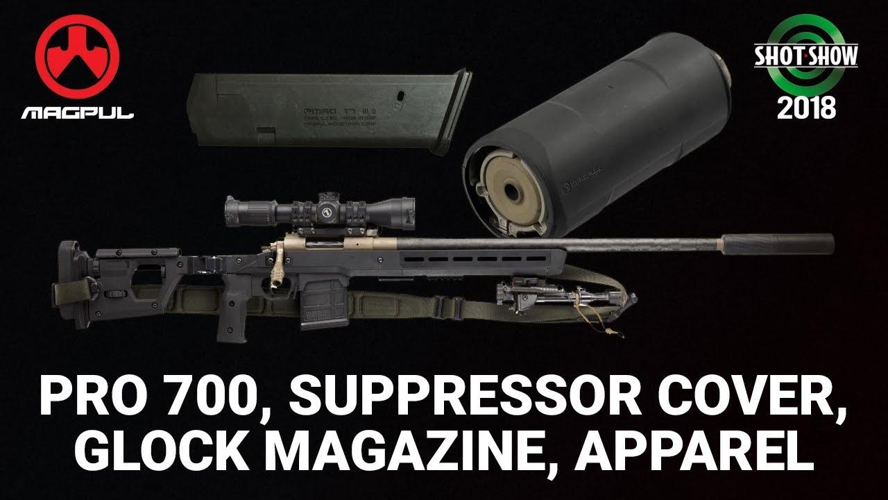 Magpul Pro 700, Suppressor Cover and Glock Magazine - SHOT Show 2018 Day 1