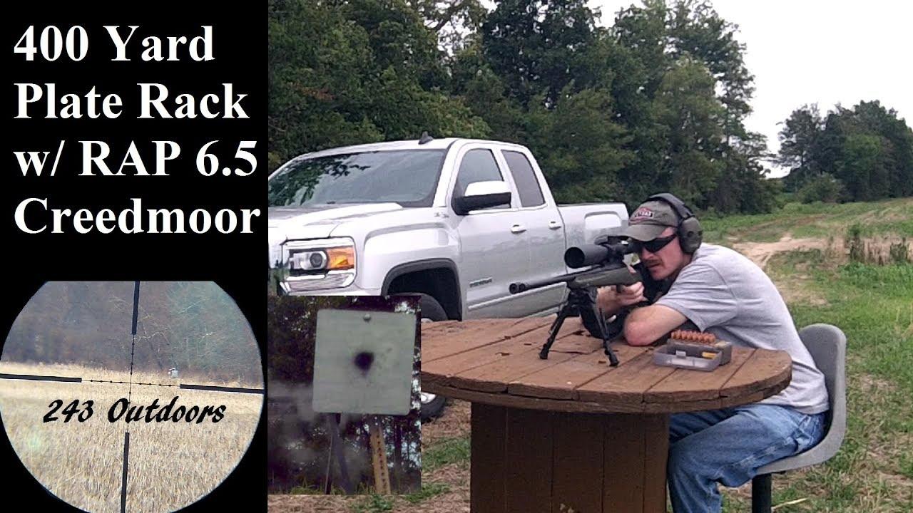 400 Yard Plate Rack With The Ruger American Predator 6.5 Creedmoor