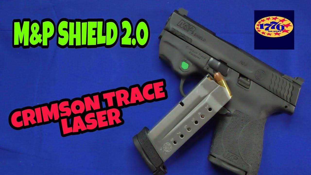 SMITH & WESSON SHIELD 2.0 & A GREEN CRIMSON TRACE