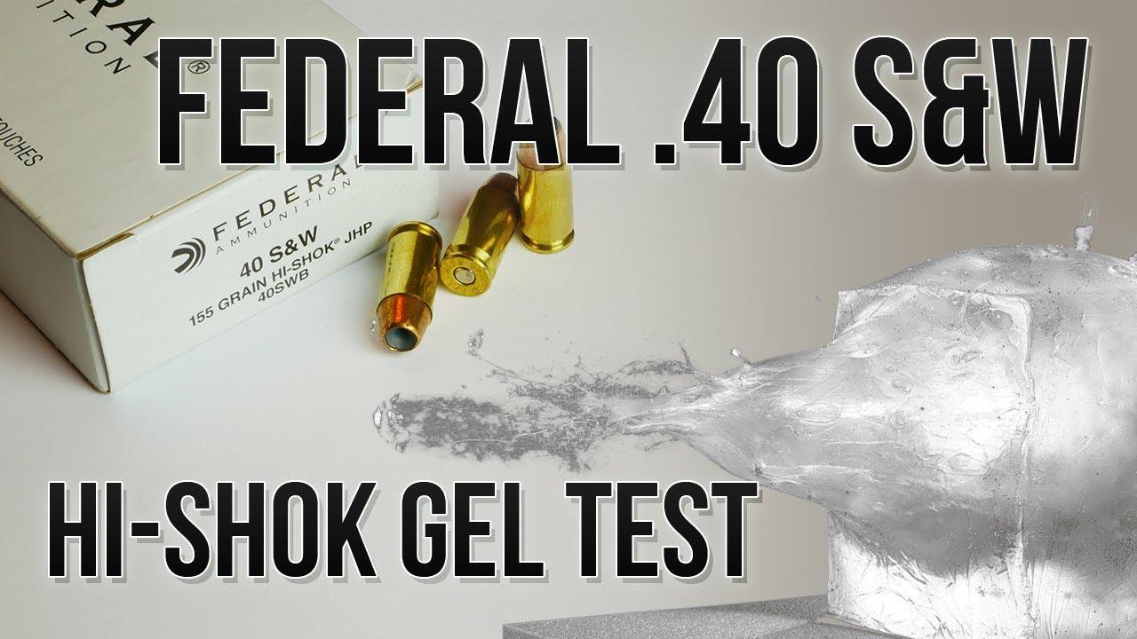 Can Old School Keep Up? Federal .40 S&W 155gr Hi-Shok Ballistic Gel Test