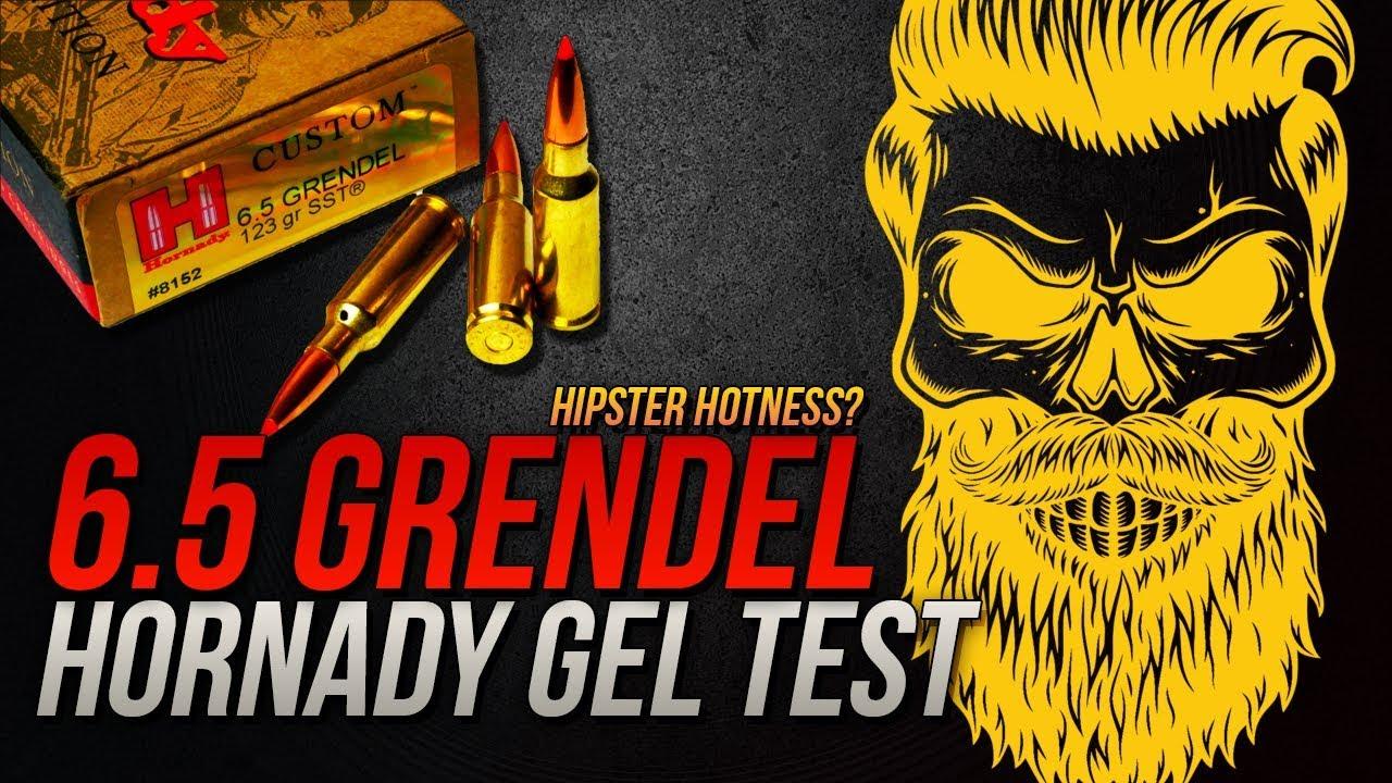 Hipster Hotness: 6.5mm Grendel Hornady Custom 123gr SST Gel Test