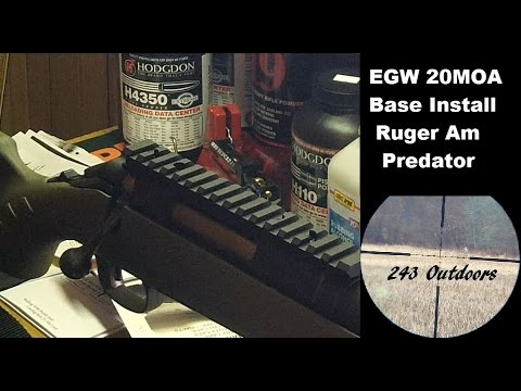 Ruger American EGW 20 MOA Base Install