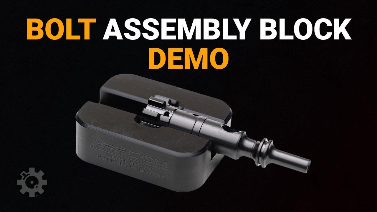 AR-15 Bolt Assembly Block Demo