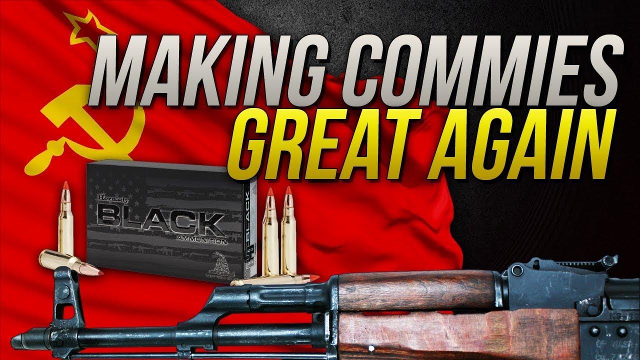Making Commies Great Again: 7.62x39mm Hornady Black 123gr SST Gel Test