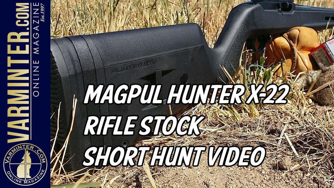 Magpul Hunter X-22 Rifle Stock - Short Hunt Video