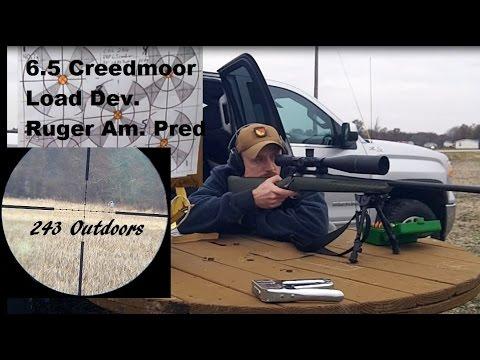6.5 Creedmoor Load Development Ruger American Predator