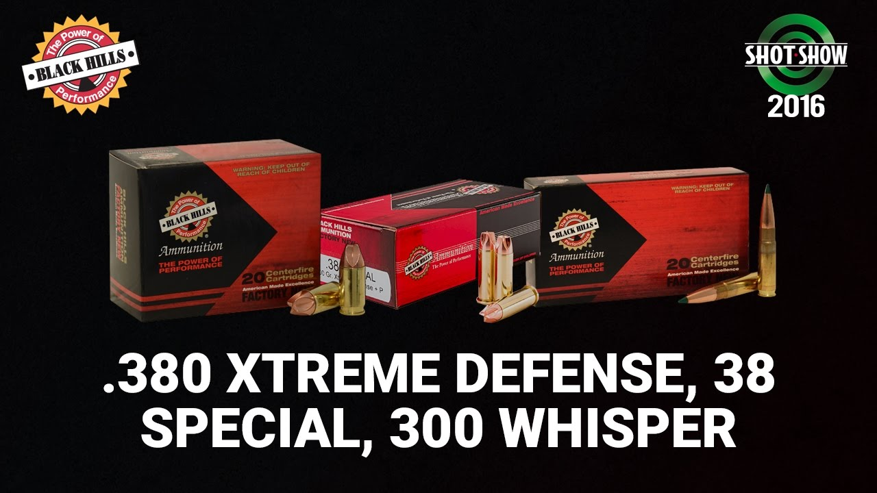 Black Hills 380 Xtreme Defense Load, 38 Special, and 300 Whisper - SHOT Show 2016