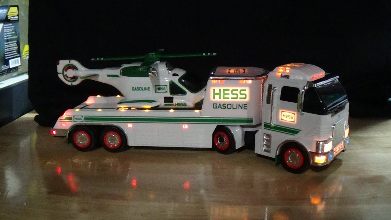 2006 Hess Truck with Helicopter Unboxing with Light Show