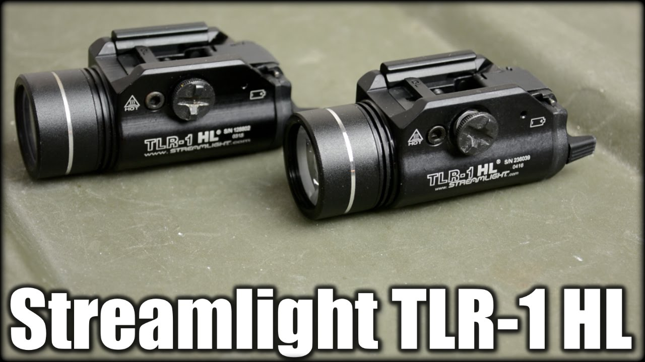 Streamlight TLR-1 HL: 800 Vs. 630 Lumens