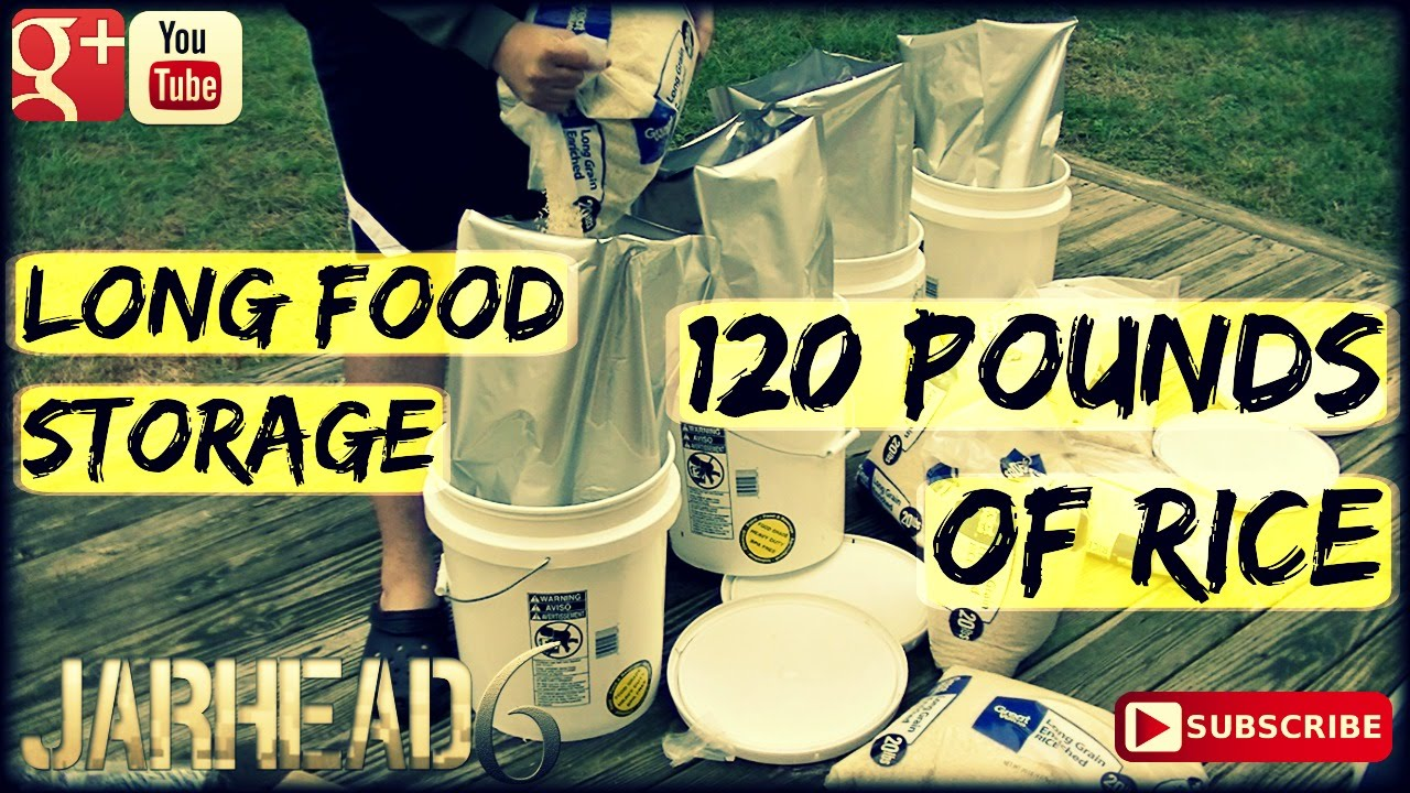 120 Pounds of Rice: Long Term Food Storage!
