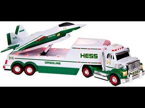 2010 Hess Toy Truck with F22 Jet Unbox and Lights and Sound Demo