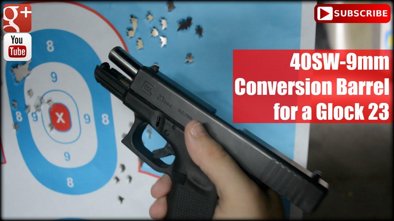 40SW-9mm Conversion Barrel for a Glock 23