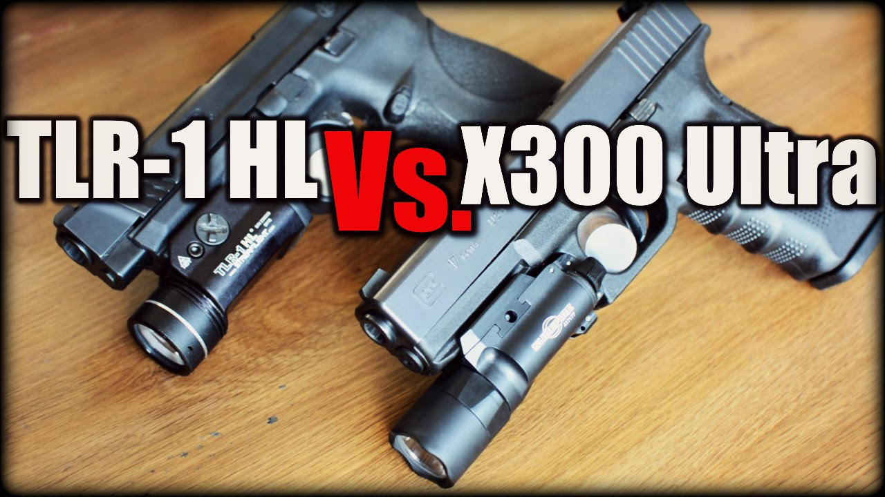 Streamlight TLR-1 HL Vs. SureFire X300 Ultra