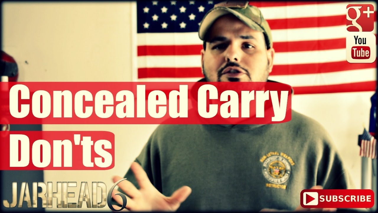 Concealed Carry Dont's