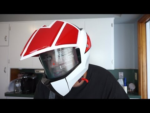 Masei Robotech Macross Rick Hunter Veritech Motorcycle Helmet!