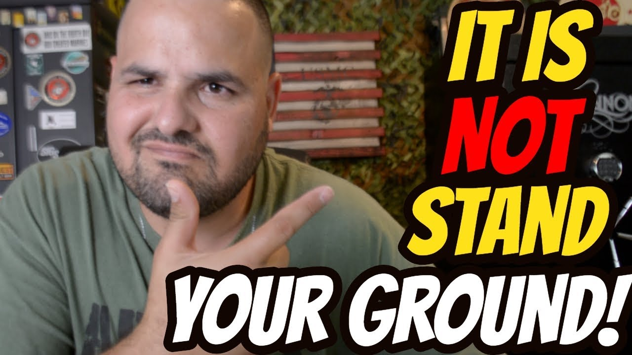It is NOT Stand Your Ground!