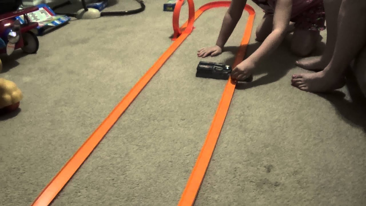 Hot Wheels race track with loop