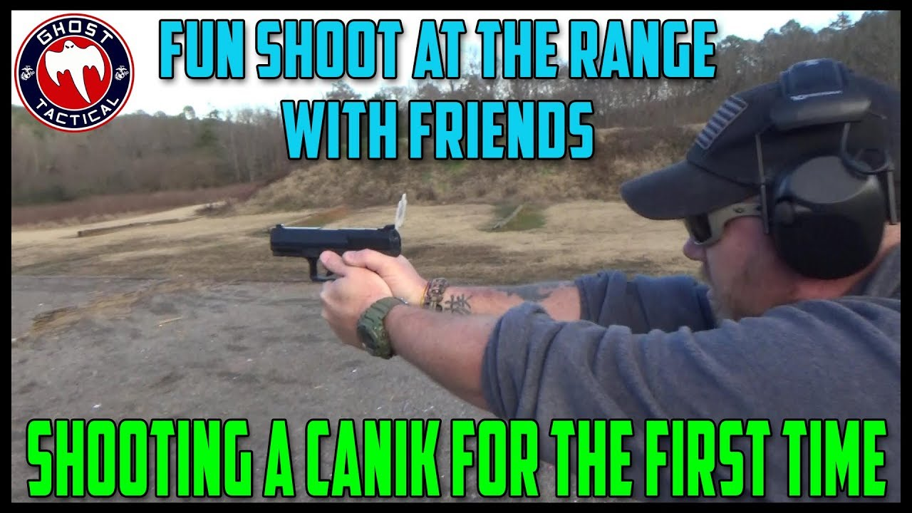Shooting a Canik For The First Time:  Fun Shoot At The Range with Friends
