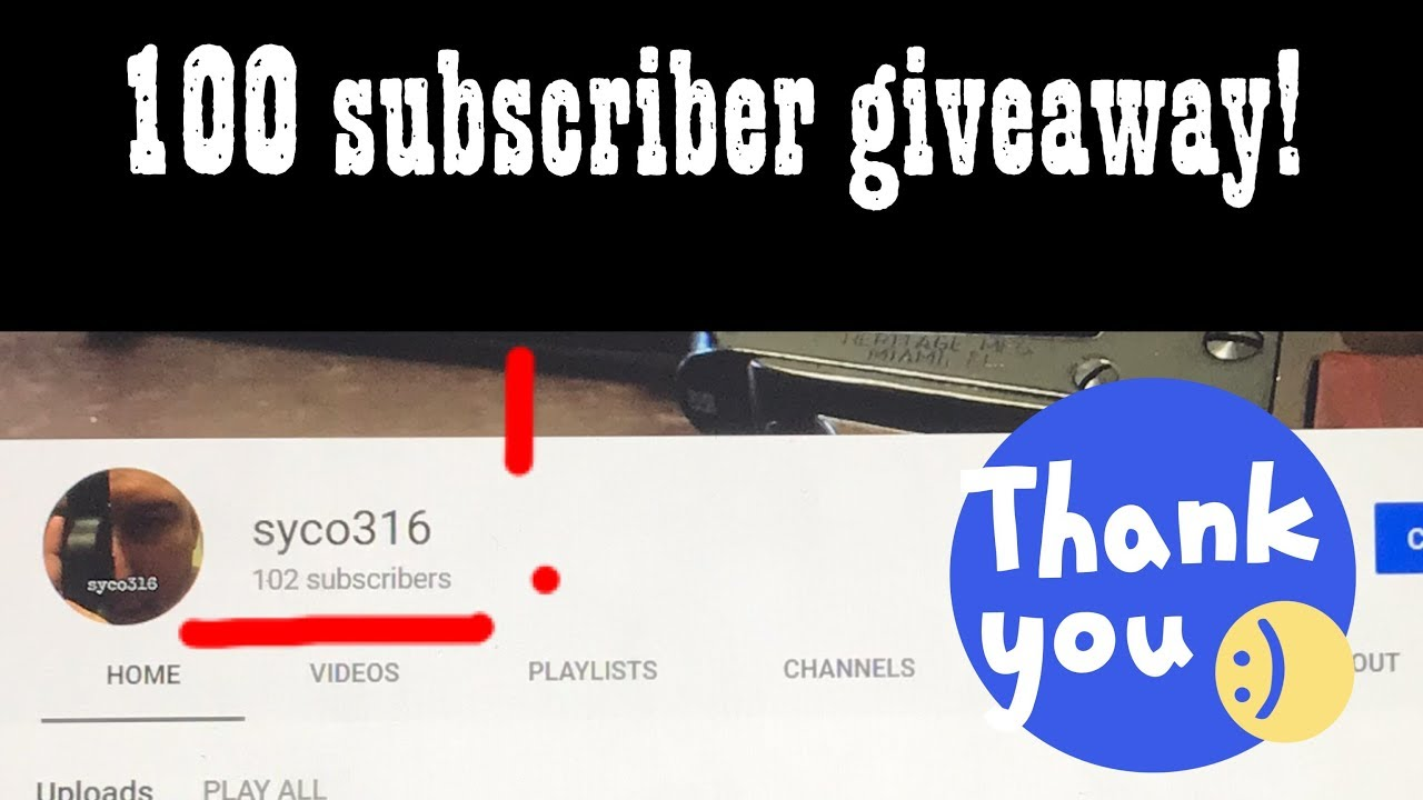 100 subscriber giveaway