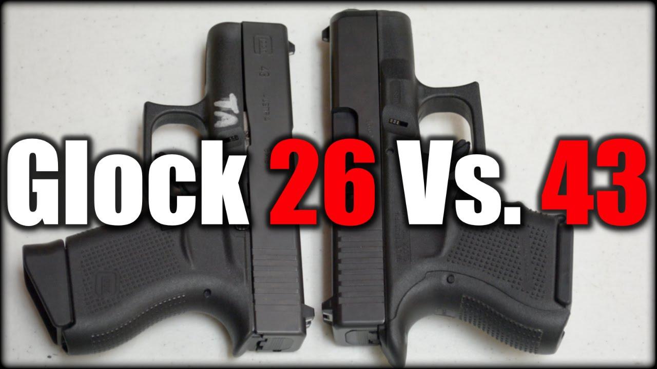 Glock 26 Vs. Glock 43| Best Handgun?