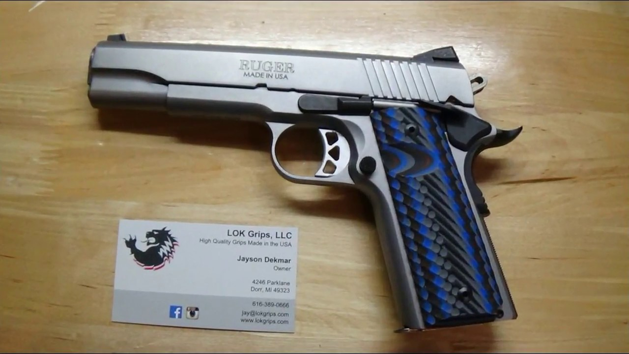 LOK Grips on my 1911 - I love these!