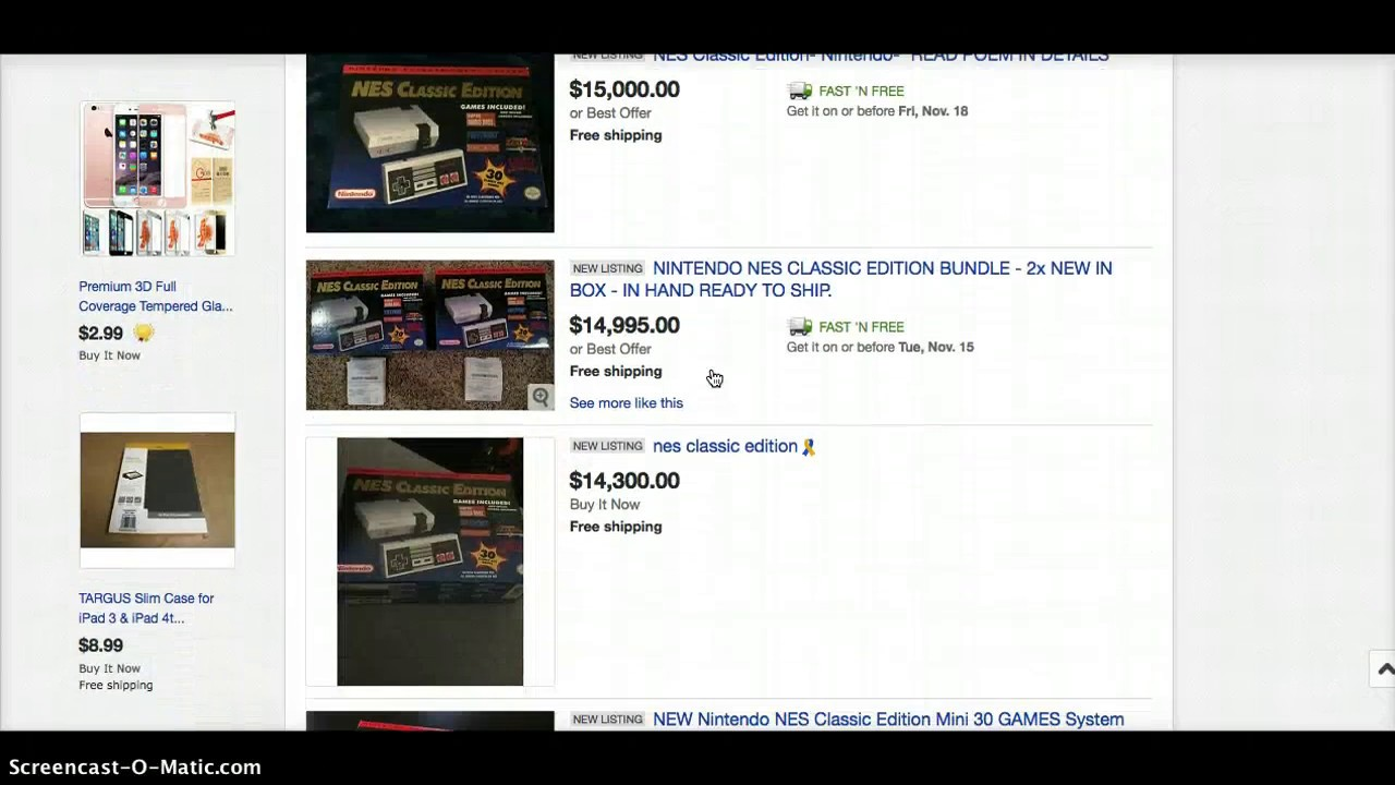 Nintendo NES Classic prices go through the roof! People...calm down and don't buy it just yet!