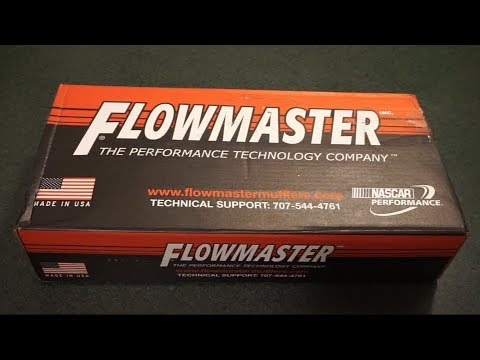 2001 Jeep Cherokee Flowmaster 44 muffler/Performance Curve exhaust unboxing/overview.