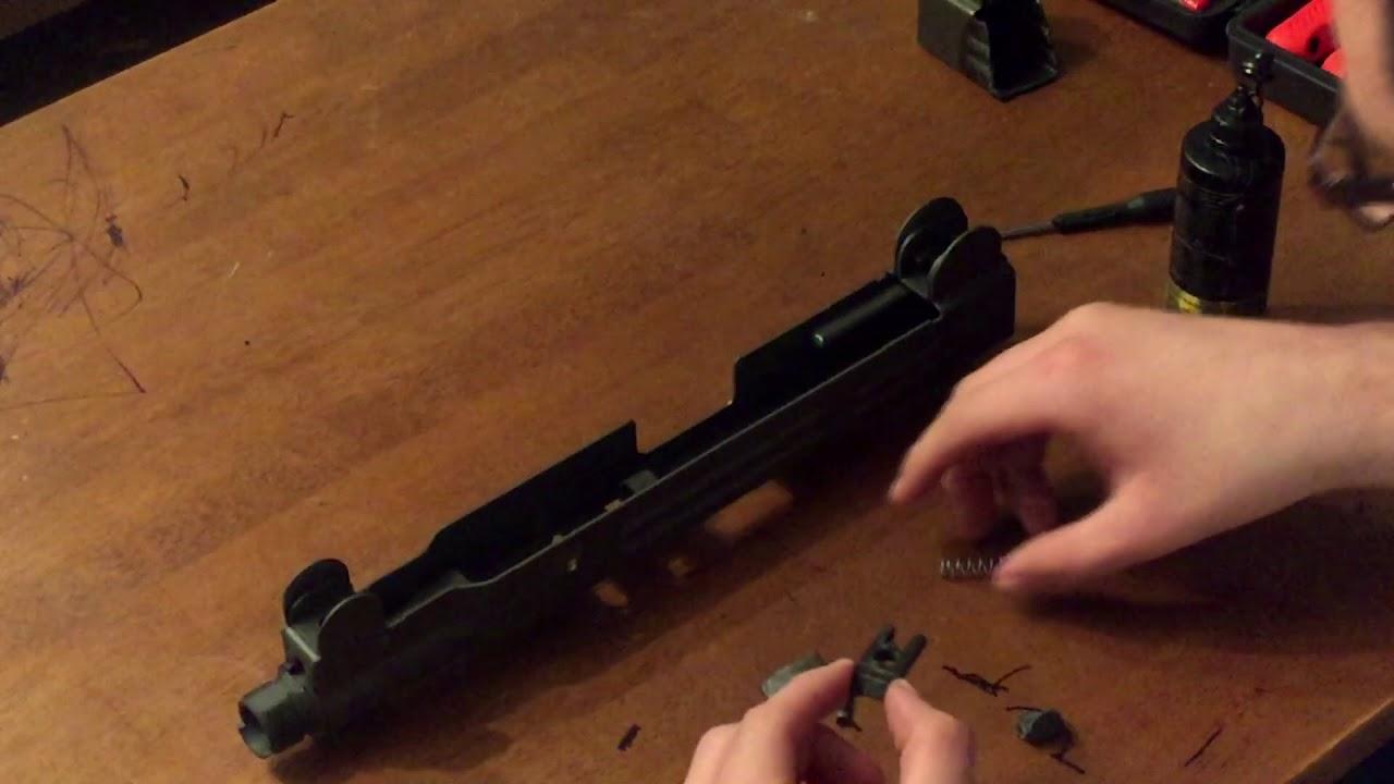 GunnitRust: Easy UZI Build - Part 6 - Rear Sight & Takedown Latch