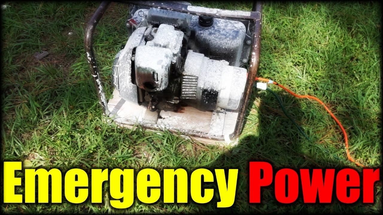 Running a Generator During an Emergency| Hurricane Matthew