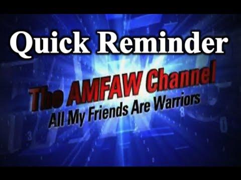 AMFAW Chat Quick Reminder 8 April 2014