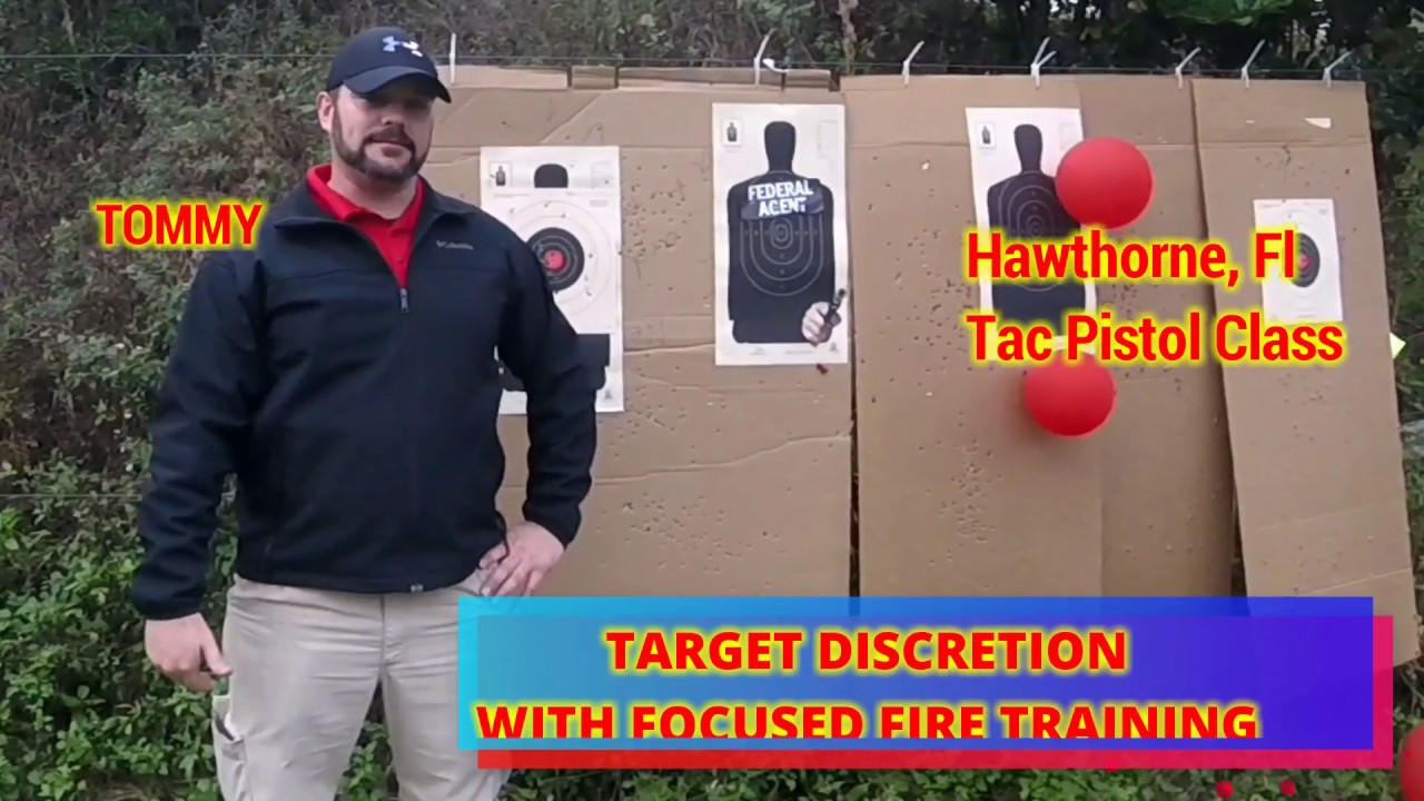 TARGET DISCRETION WITH FOCUSED FIRE TRAINING