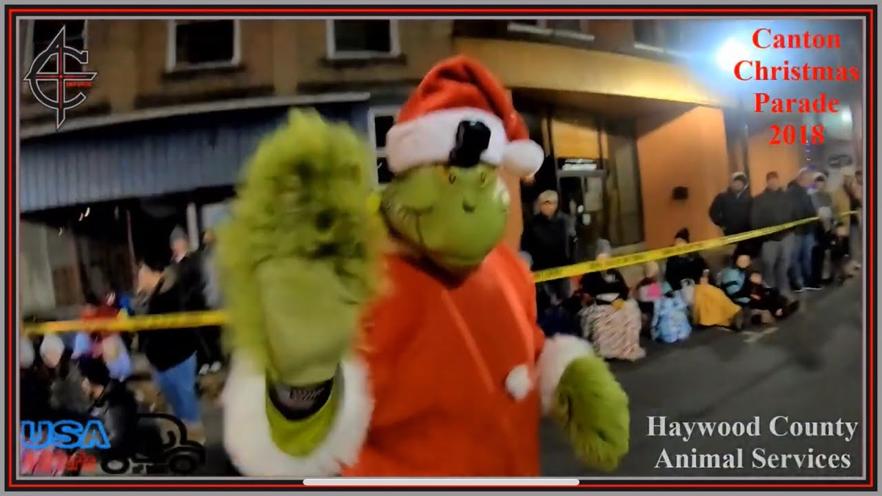 Canton Christmas Parade 2018 | Grinch Cam