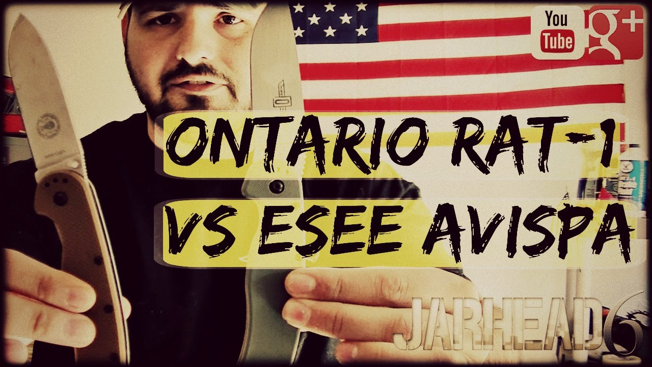 Ontario RAT-1 Vs. ESEE Avispa: High Value EDC Knives!
