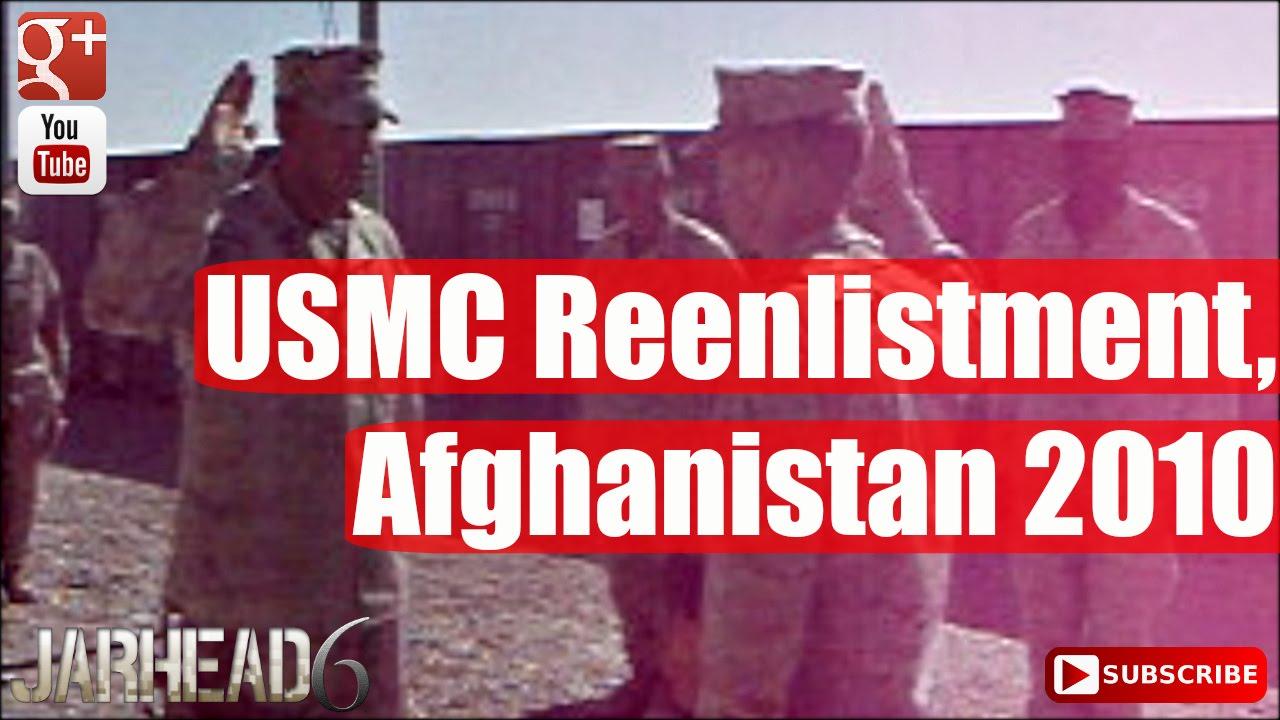 USMC Reenlistment, Afghanistan 2010