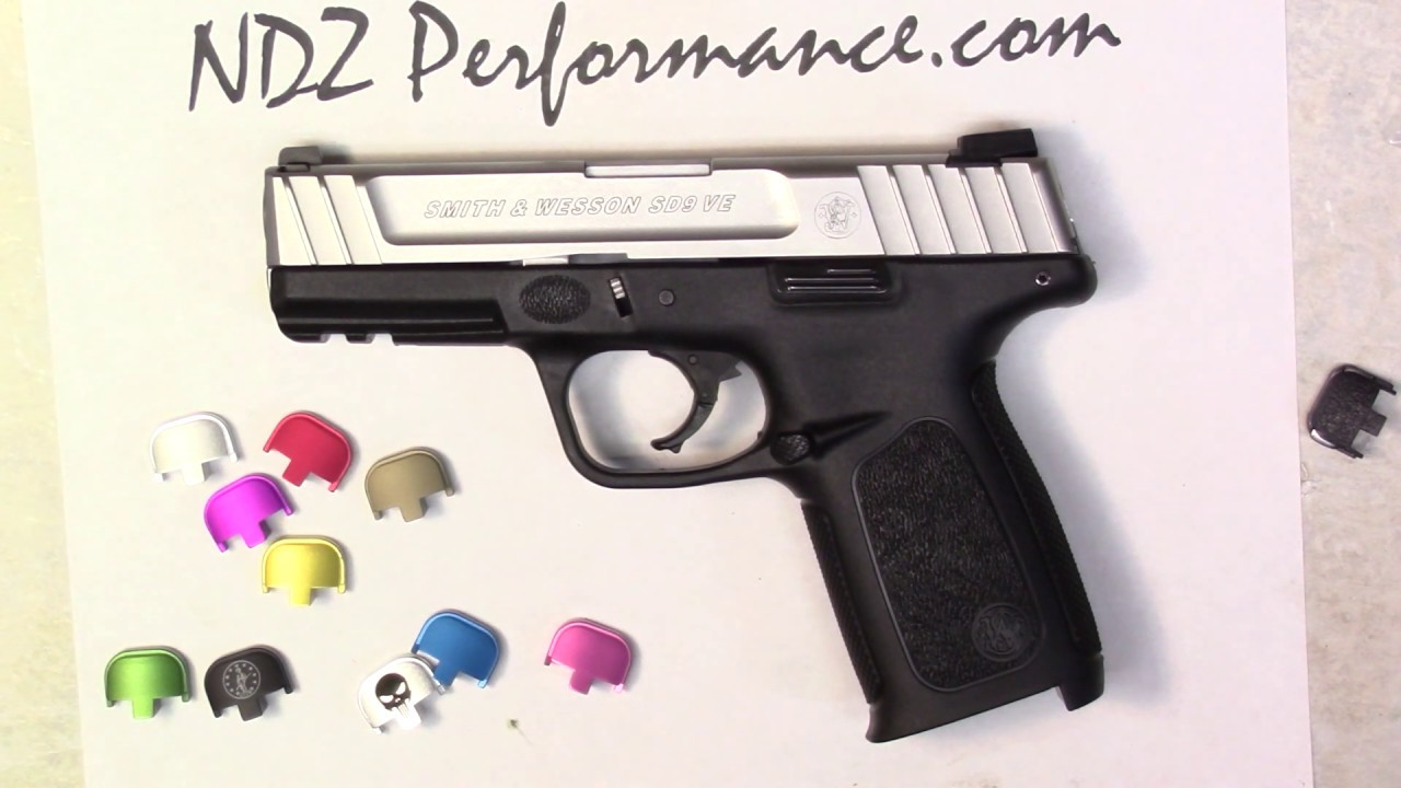 Smith and Wesson SD9VE SD40VE Rear Back Plate from NDZ Performance