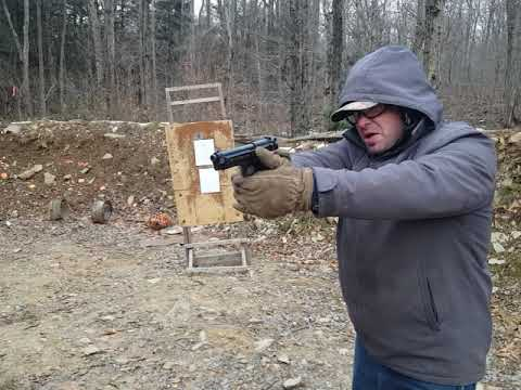 Cold Weather Pistol Training shooting moving backwards