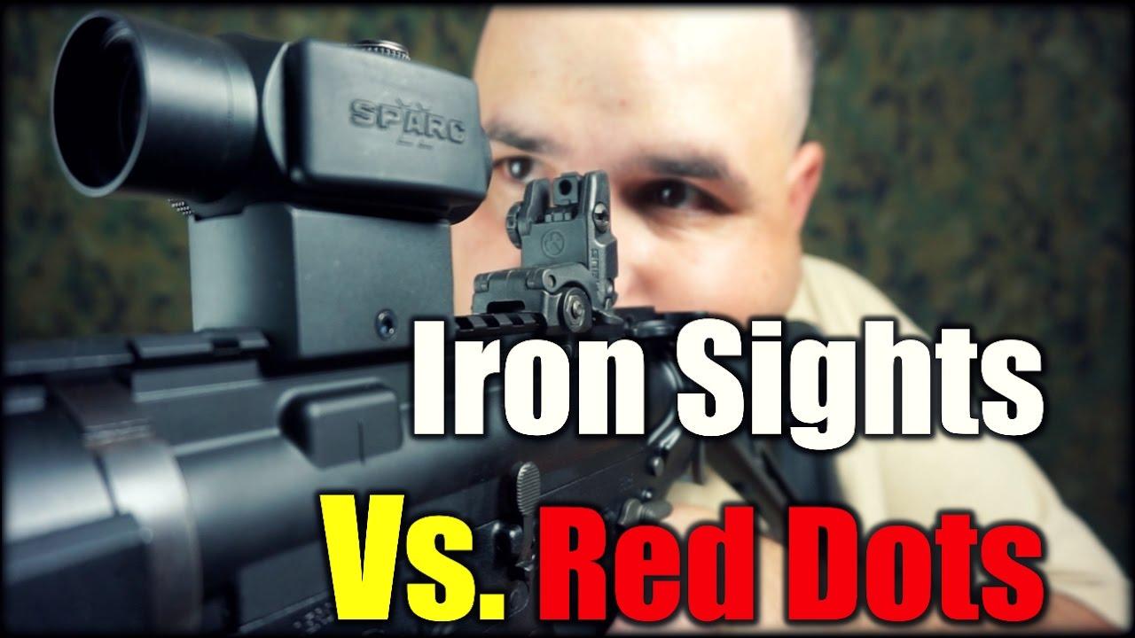 Iron Sights Vs. Red Dots| AR-15 Talk