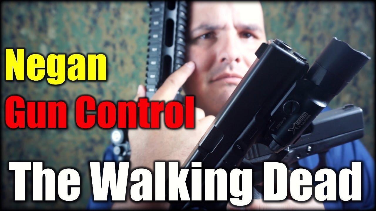 Negan Gun Control  The Walking Dead
