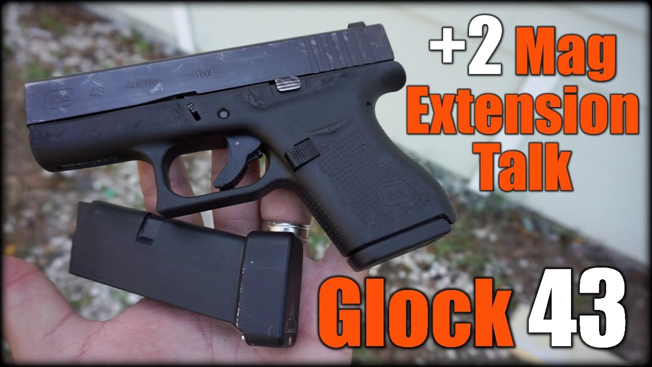 Concealed Carry| Glock 43 +2 Mag Extension