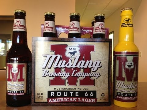 Route 66 American Lager from Mustang Brewing Company