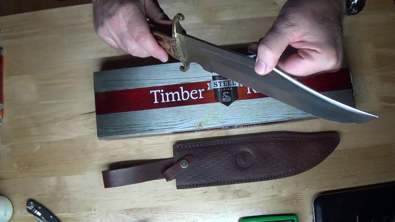 TR85 El Paso Bowie knife by Timber Rattler Unboxing from BUDK
