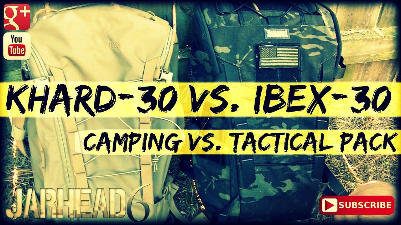 Vanquest IBEX-30 Vs. Arcteryx KHARD-30: Tactical Vs. Camping Pack!