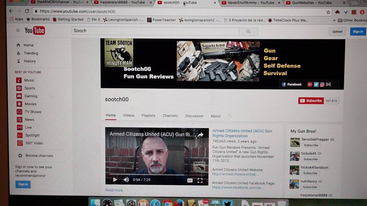 Top 5 YouTube firearms channels that will inspire you to make your own YT firearms channel!
