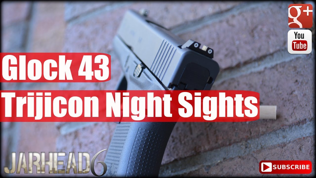 Glock 43: Wearing Glock 42 Trijicon Night Sights